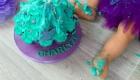 photo en couleur gateau anniversaire enfant violet et vert a marignane