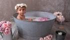 photo bain de lait bambin 1an style vintage pastel à marseille