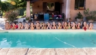 photo EVJF bord de la piscine à Saint Maximin la Sainte Baume