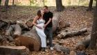 photo couple grossesse extérieur foret à l'automne à gardanne