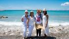 photo couleur fille EVJF bord de la plage dans le sud de la France