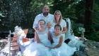 photo famille champêtre bohème extérieur couleur parents et enfants à Aix en Provence