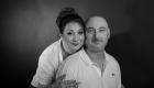 photo couple noir et blanc studio fond noir Châteauneuf les Martigues