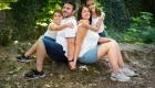 photo famille foret extérieur